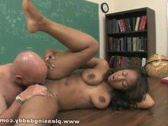 Ebony Babe Kandi Kream Fucks Her Old Teacher Rod Fontana In The Classroom