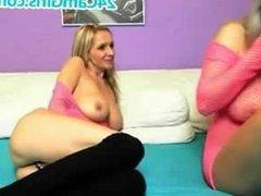 Lesbians Blonde On Webcam