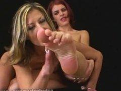 Sasha And Karinna Hot Cigar Smoking And Foot Fetish Kink