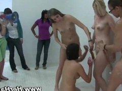 Naked lesbians hosed down in hazing