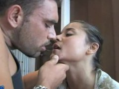 Susana Abril takes big cock in mounth and pussy