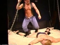 CBT Muscle stud bottom's balls are slapped, punched and stomped by me.