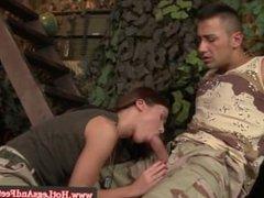Hot militar baby into footfetish
