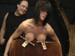 Busty bondage of Daniela in hardcore nipple clamped punishment