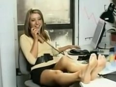 Secretary feet tickled