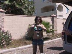 Topless Beer Bonging