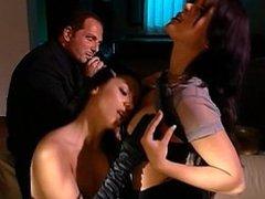 Jennifer Dark And Vanessa Mae Cigar Smoking Threesome Scene