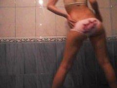 Hot teen colllege girl booty dancing and teasing in her panties.