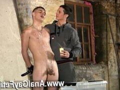 Hot gay sex Poor Leo can't escape as the cool lad gets his kicks pouring