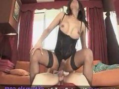 sexy tranny in hot lingerie fucking up and fucked up with lust