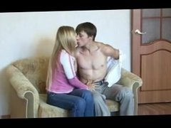 Blonde Russian teen fucked by her boyfriend
