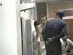 Real Male Hidden Spy Camera College Wrestlers Locker Room Shower Part 1