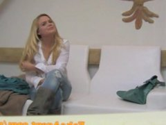 FakeAgent Blonde bar girl gets Creampie in Casting