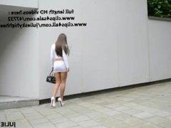 Best hooker on the planet in lycra miniskirt & nude belly exhibitionist slu