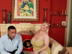 BBW Superstar Samantha 38G Fucks Horny Black Fan