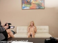 Nubiles Casting - Cute blonde gets her first shot at porn