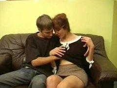 Hot Redhead Russian Mom and Boy