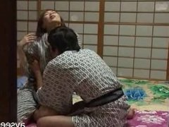 Japanese Couple Sex in Traditional Clothing