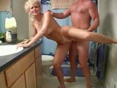 Milf banging in a bathroom