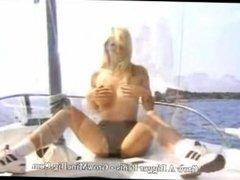 Blonde beauty on a boat