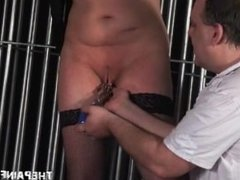 Tall amateur slave in extreme bdsm and vicious pussy torture by evil master