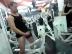 GYM DUDE LETS ONE OUT