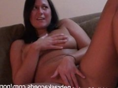 Shy and Extremely Tanned Teen Naked and Touching Herself