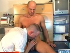 A real heterosexual guy gets sucked his hard cock by a guy in spite of him