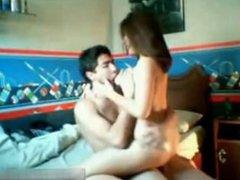 Amateur filipina with big tits rides like a pro