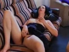Girl overhears couple fucking in next room and masturbates