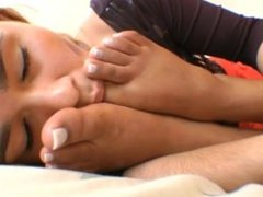 Licking Ana Paula Candy's Sleepy Feet