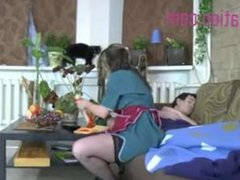 Hot Maid In Lingerie Fucks Young Guy At Her Job Sixty Nine