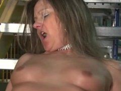 Milf goes into the warehouse to destress