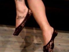 lace ped socks