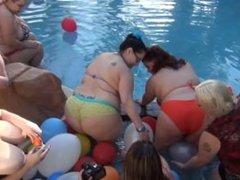 BBW Pornstars Partying