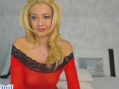 Very hot blonde private webcam show
