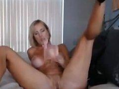 Big Boobs Blonde MILF Dildo Masturbation