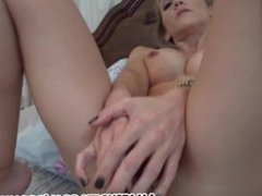Amateur girlfriend toys both holes and sucks dick