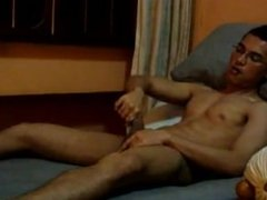 Malay Guy Cums All Over