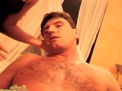 Guy Made To Lick Alpha Male's Boots In Front Of Mistresses