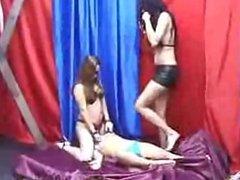 Lesbian trample 2on1