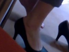 Candid Sexy Shoeplay in the Library Pt 3