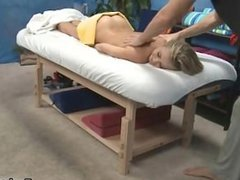 Naked big booty blonde gets a sensual part1