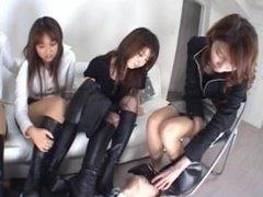 Quattro Asian Nylon Foot Smother Slave