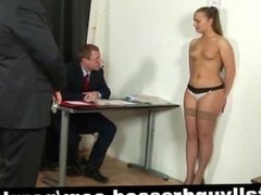 Kinky job interview for young secretary