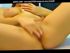 Beautiful Brunette Teen Masturbating