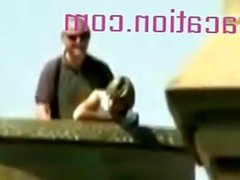 Ilse Uyttersprot - Chick Gets Banged From Behind On The Roof Of A Building