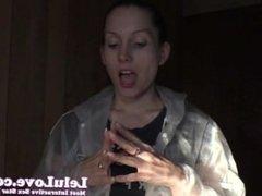 Lelu Love-Raincoat Realtor POV Blowjob Cumshot