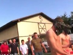Amazing gay scene Dildo in the ass, wanking off while a horse watches,