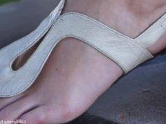 Sexy blonde soles